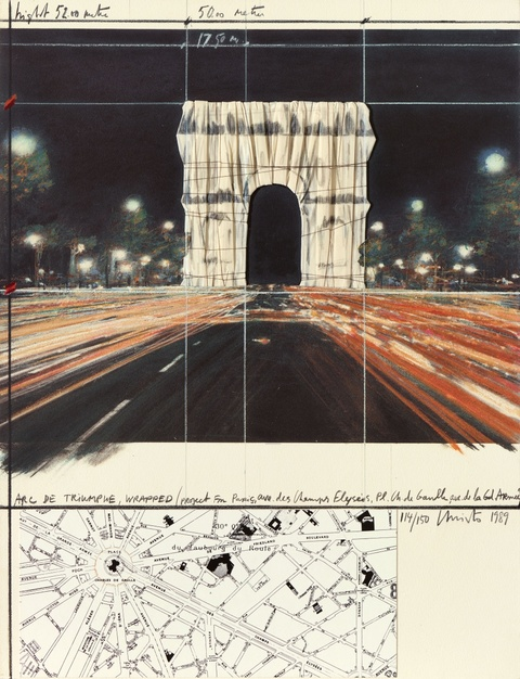 Christo - Arc de Triomphe, Wrapped, Project for Paris