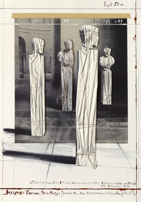 Christo - Wrapped Roman Sculptures, Project for Die Glyptothek, München