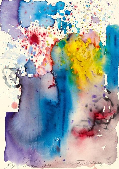 Rainer Fetting - Sylvester N.Y. new year 1999