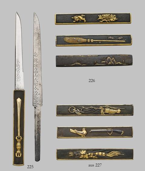 Zwei Teile Schwertzubehör. 19. Jh. -