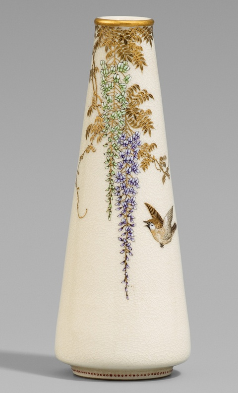 Schlanke Satsuma-Vase. Osaka. Um 1900 -
