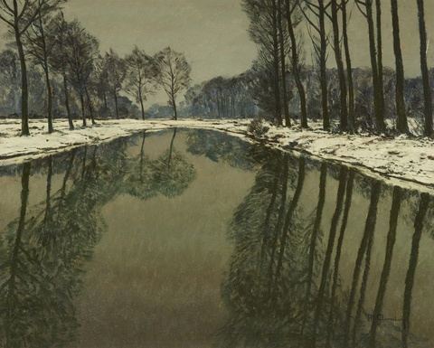 Max Clarenbach - Winter an der Erft