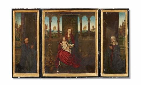 Wohl Brügger Meister Ende 15. Jahrhundert - Flügelaltar mit Muttergottes und Stifterpaar