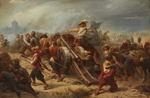 Christian Sell - Gefechtsszene aus dem Dreißigjährigen Krieg