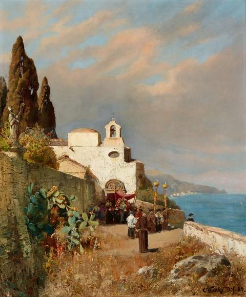 Carl Wuttke - Kapelle an der italienischen Küste