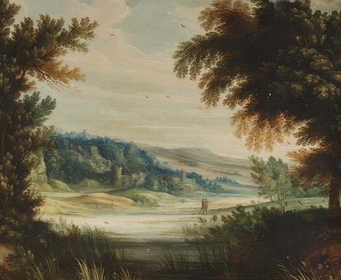 Netherlandish School 17th century - Panoramic Hilly Landscape