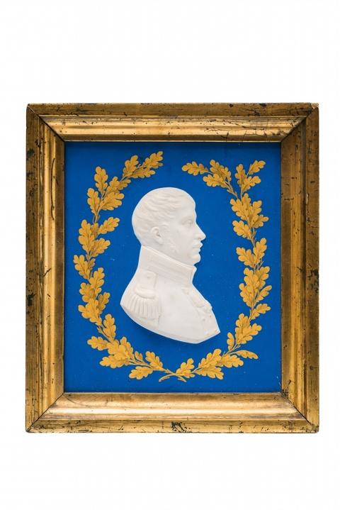 Plakette mit Reliefbildnis Friedrich Wilhelm III. -