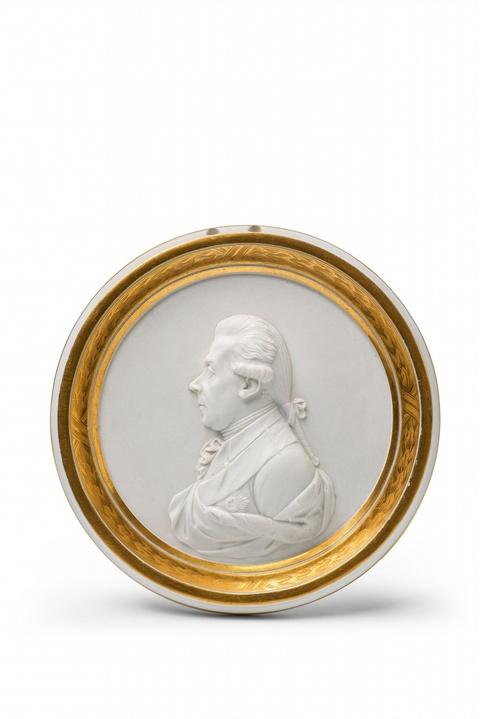 Seltene Plakette mit Reliefbildnis Prinz Heinrich von Preußen -