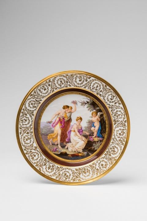 """A rare Berlin KPM porcelain plate """"puni par les Grâces"""" -"""