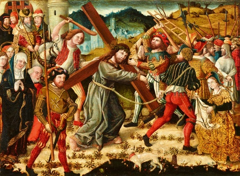 German School late 15th century - Christ Carrying the Cross