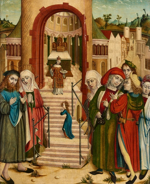 Cologne School circa 1500 - The Presentation of the Virgin Mary at the Temple