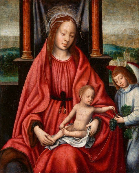 Netherlandish School 16th century - The Virgin and Child with an Angel