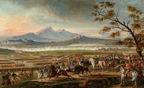 Wohl Italienischer Künstler um 1820 - Napoleonische Schlachtszene