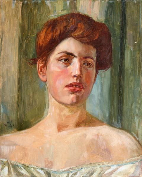 Wilhelm Trübner - Portrait of Fräulein St.