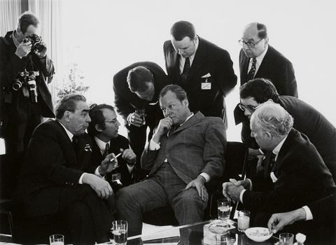 Barbara Klemm - Leonid Breschnew, Willy Brandt, Bonn