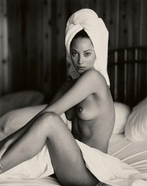 Sante D'Orazio - Christy Turlington with towel, Panoramic View, Montauk