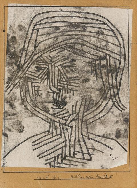 Paul Klee - Bildnisskizze Frau C II