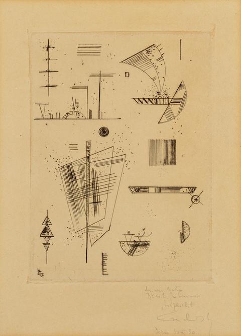 """Wassily Kandinsky - Erste Radierung für die Edition """"Cahiers d'art"""""""