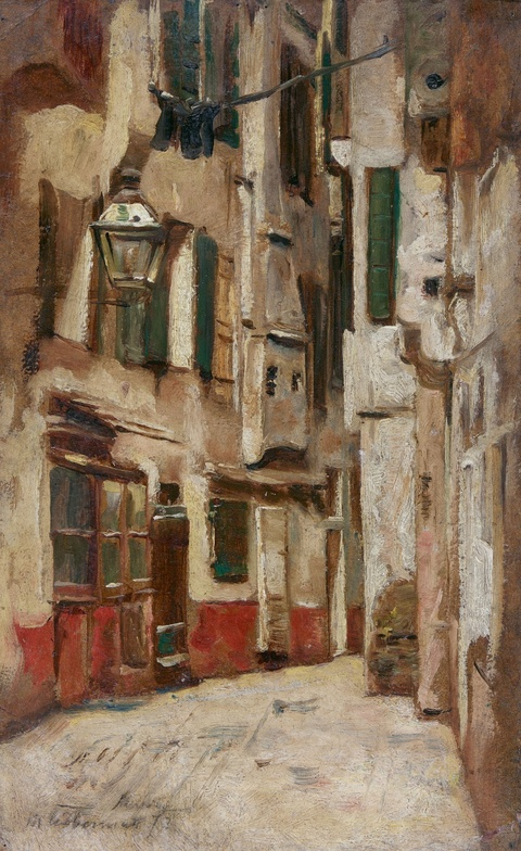 Max Liebermann - Venezianische Gasse nach rechts