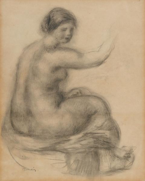 Pierre-Auguste Renoir - Gabrielle, nu assis de profil