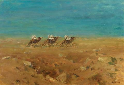 Otto Dill - Arabische Kamelreiter