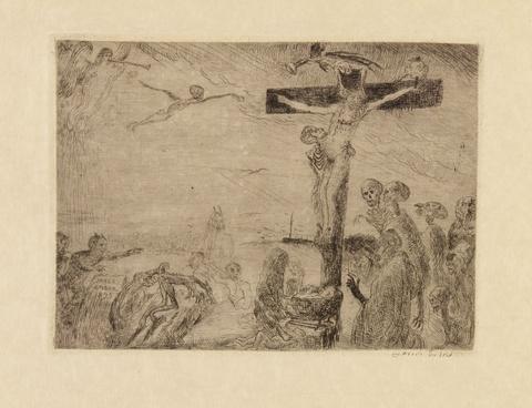 James Ensor - Le Christ tourmenté par les démons