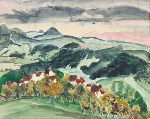 Erich Heckel - Bewaldetes Bergland