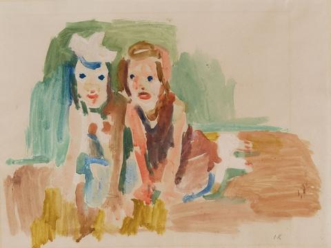 Oskar Kokoschka - Zwei Kinder (zwei Mädchen)
