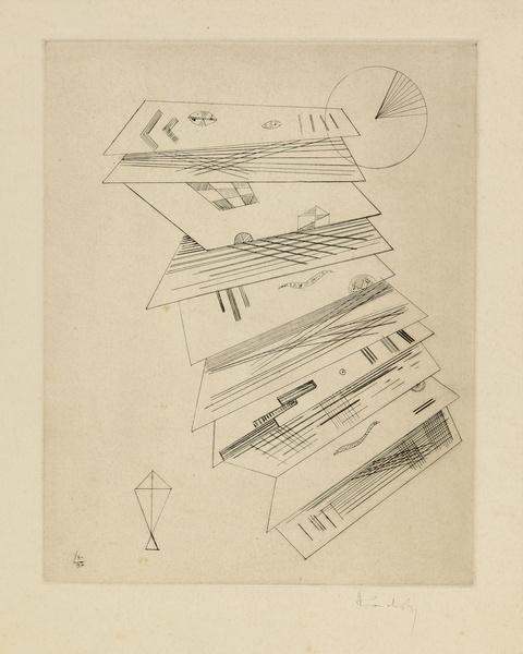 """Wassily Kandinsky - Zweite Radierung für die Editions """"Cahiers d'Art"""""""