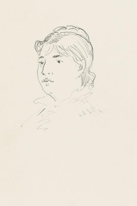 Édouard Manet - Femme, tête nue et frange sur front (Marie Colombier?)