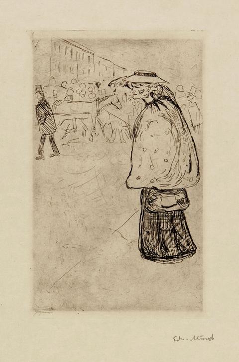 Edvard Munch - The Sailor's Bride (Straßentype)