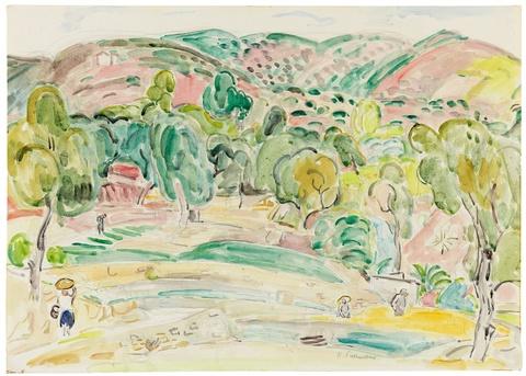Hans Purrmann - Südliche Landschaft (Ospedaletti bei San Remo)