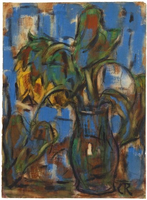 Christian Rohlfs - Sonnenblumen im Krug