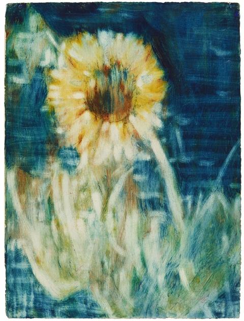 Christian Rohlfs - Sonnenblume im Mondlicht