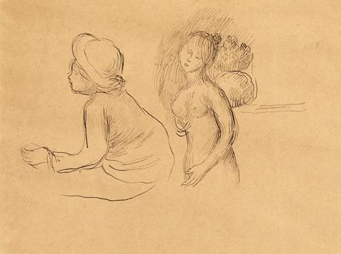 Pierre-Auguste Renoir - Étude de nu et enfant