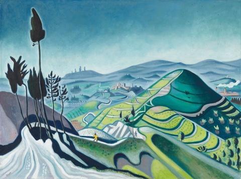 Richard Seewald - Toskanische Landschaft