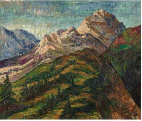 Eberhard Viegener - Berglandschaft im Kanton Uri