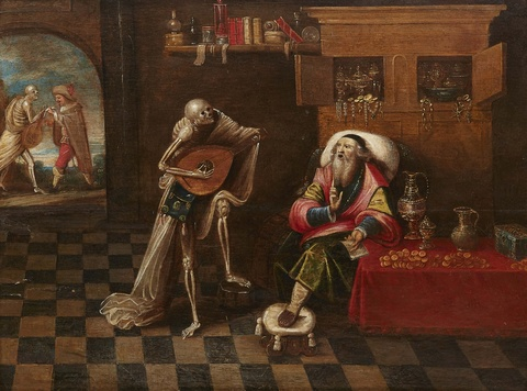Frans Francken the Younger, direct follower (17th century) - Death and the Rich Man