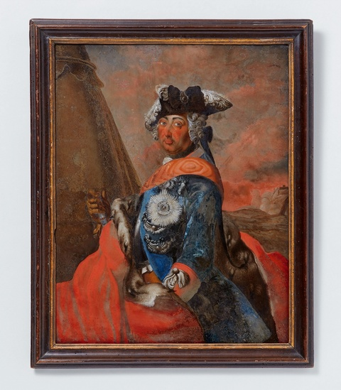 A reverse glass portrait of Friedrich II -