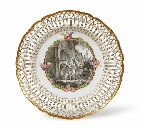 Dessertteller aus einem Tafelservice mit mythologischen Darstellungen für Friedrich II. -