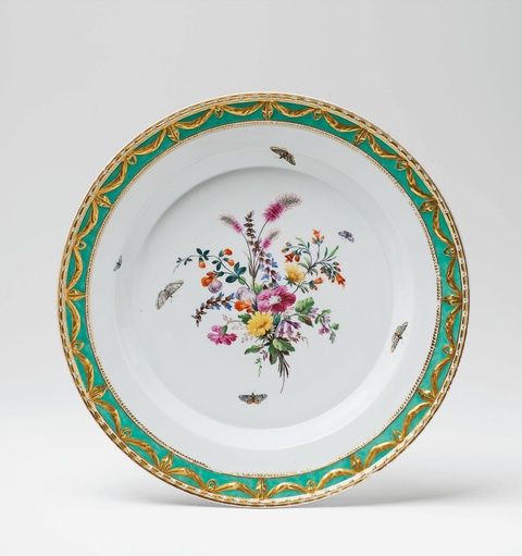 Große Platte aus einem Tafelservice für Prinz Heinrich von Preußen -