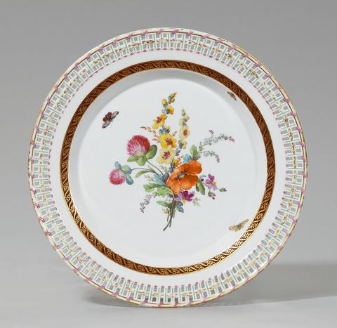 Dessertteller aus einem Tafelservice für Kronprinz Friedrich Wilhelm -