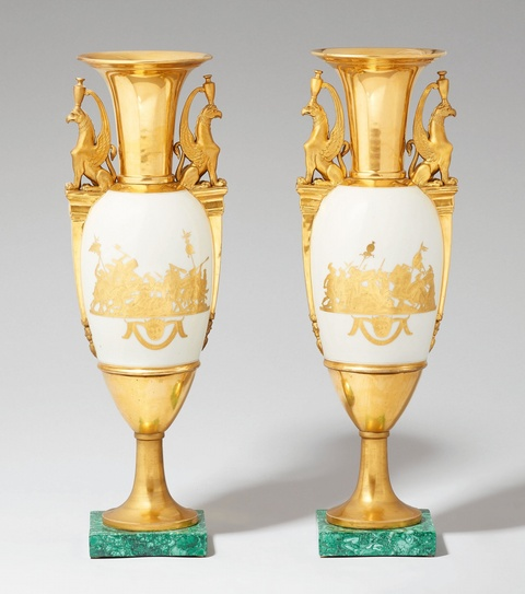 A pair of Russian Neoclassical vases -