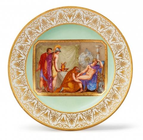 Dessertteller mit mythologischer Szene -