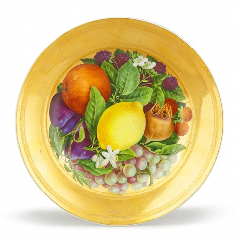 Dessertteller mit Früchten -