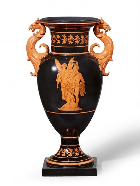 """Seltene Vase """"Nike krönt den Sieger"""" -"""