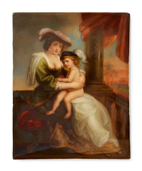 Bildplatte mit Gemäldekopie nach Peter Paul Rubens -