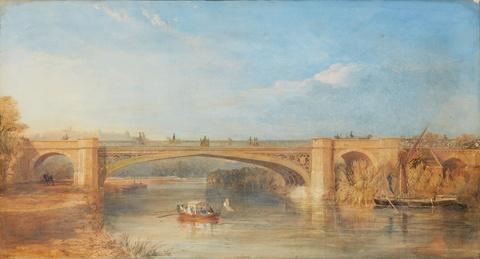 Englischer Künstler des 19. Jahrhunderts - Die Victoria Bridge über die Themse bei Datchet