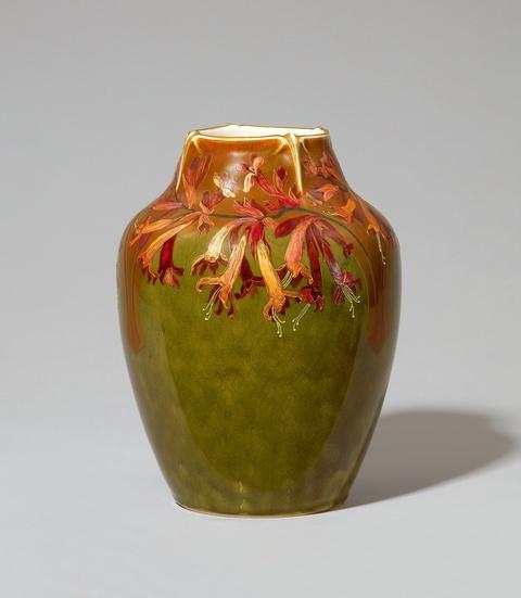 Vase mit Geißblatt-Blütendekor -