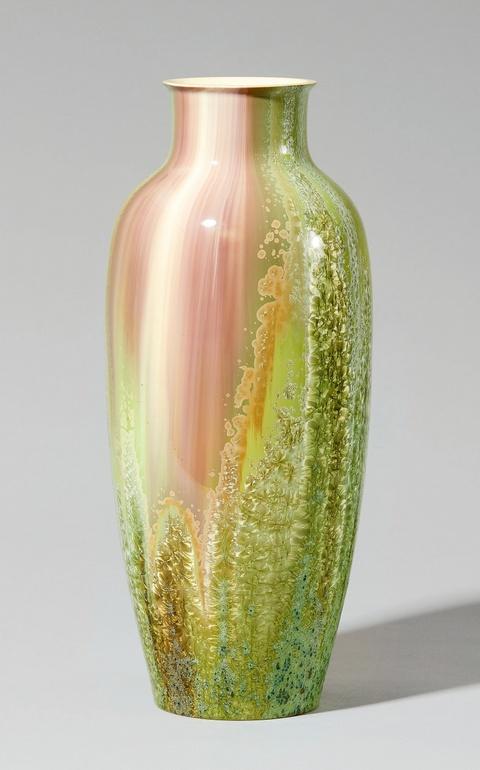 Vase mit Kristallglasur -